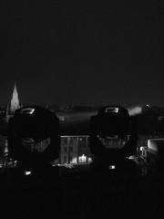 Campana (2) (BM...W) Tags: grenoble lumière ciel nuit bastille église ville immeuble musique cloches projecteurs