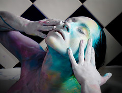 Collaboration with Jessica Taylor (Elicea Andrews) Tags: portrait colour art face painting photography paint andrews jessica body contemporary taylor jess collaboration liss elicea