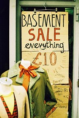 Roll 2 - Basement Sale (Cris Ward) Tags: street charity camera old city uk orange signs streets color colour slr london film sign yellow shop rollei analog writing 35mm vintage shopping daylight lomo xpro lomography warm cross britain sale crossprocess grain basement slide retro cardboard card crossprocessing april analogue manual noise processed e6 yashica bargain blown colorshift lsi retromania c41 2013 yashicafxd colorreversal cr200 lomolab digibase rolleidigibasecr200