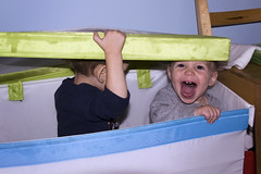 Toy Boxes are REEEEEALLY fun! (theothernate) Tags: cute happy cousins adorable toddlers screaming yelling toybox ecstatic shrieking