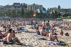 140413_0067 (amblerpix) Tags: blue beach clouds swimming fun surf day sunny australia bluesky newsouthwales swimmers tasmansea crowds sunbathing coogee lifeguards surfrescue autumnday