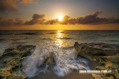 Shoot and Run (simonrim) Tags: beach sunrise rocks florida wave jupiter breakingwave carlinpark nikond7100 tokina1116mmf28atxprodxii