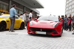 Ferrari F12berlinetta (- Icy J -) Tags: road street morning red cars car club race hongkong drive md unique sunday group large fast special hong kong exotic stealth annual carbon loud meet supercar f12 fibre berlinetta smd hypercar