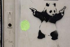 Panda (SReed99342) Tags: streetart paris france graffiti stencil panda guns badpanda