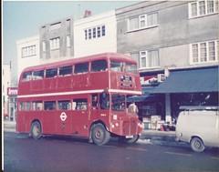 RMA5 in High Street, West Wickham, early in 1985 (SurreyWanderer) Tags: bus routemaster lt beckenham bromley rm londontransport rma aec wickham westwickham selkent