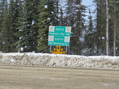 Turn left if you want to drive to Whitehorse (jimbob_malone) Tags: yukon 2013 northklondikehighway