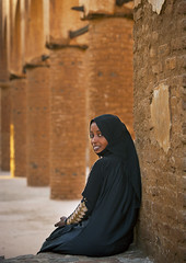 Young Woman In Khatmiyah Mosque, Kassala, Sudan (Eric Lafforgue) Tags: africa travel history vertical architecture outdoors photography ancient day sitting veiled veil northafrica soedan african islam sudan religion mosque arab civilization ancientcivilization oneperson soudan placeofworship saharadesert northernafrica traditionalclothing realpeople traveldestinations colorimage famousplace onewomanonly lookingatcamera waistup  1people kassala szudn sudo  northernsudan 2024years northsudan      xuan ert8253