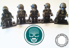 Finished Ghost Squad (pecovam) Tags: brick soldier lego ghost future squad custom affliction recon pecovam
