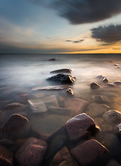 As it sets (- David Olsson -) Tags: longexposure sunset lake seascape motion nature water clouds landscape movement nikon rocks sundown cloudy sweden outdoor stones le april fx vnern d800 hammar vrmland 1635 ndfilter blackglass 1635mm lakescape smoothwater 2013 2exposures manualblend flickroid takene manuallyblended davidolsson hammarsydspets nd500 lightcraftworkshop 1635vr