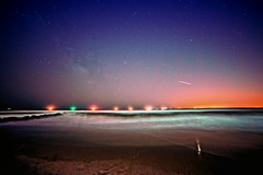 Two Lyrid Meotorites at Long Beach, NY on  April 22, 2013 (mudpig) Tags: longexposure ny newyork beach night geotagged longisland longbeach gothamist atlanticocean meteor meteorite shootingstar startrail mudpig stevekelley lyrid stevenkelley