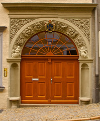(#2.027) door , Grlitz, Nikolaistrasse 10 (unicorn 81) Tags: door building history architecture germany geotagged deutschland town europe grlitz goerlitz sachsen stadt architektur portal altstadt tr hdr frontdoor goerlitzzgorzelec europastadt