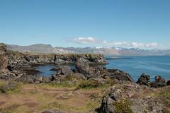 Footpath Arnarstapi to Hellnar (Sara@Shotley) Tags: hellnar iceland snaefellsnes coast cliffs basalt mountains path summer sky sea