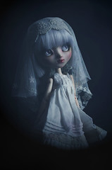 Ghost (Holly Hatter) Tags: ghost fantme pullip doll poupe miniature custo nomyens makeup full holly hatter lace victorian