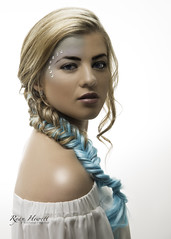 Mermaid (Ryan Hewett) Tags: blue woman girl nikon whitebackground mermaid bluehair d800 blondhair beautifulmodel ryanhewettphotography