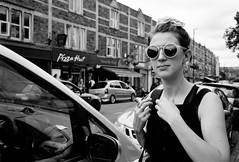 Bohemia (Shot In The Street) Tags: streetphotography leicam6ttl street upfest2016 mono 2016 film female portra blackandwhite bw candid bristol monochrome leicam6 woman black analogue white upfest kodak bohemian bohemia