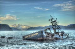 F/V Arctic Hunter HDR (bether) Tags: fishing vessel boat fishingvessel mountmakushin alaska dutchharbor commercialfishing arctichunter hdr sky water blue