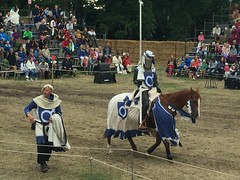 Knight at the jousting tournament (radiowood) Tags: gotland visby medieval tournament knight jousting
