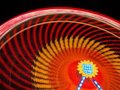 Wheel in motion (Karsten Gieselmann) Tags: em5markii mzuiko nd8 graufilter rot riesenrad orange blau dult microfourthirds filter 1240mmf28 blauestunde langzeitbelichtung kgiesel architektur farbe haida licht nd neutraldensityfilter neutraldichtefilter olympus architecture blue color ferriswheel light longexposure m43 mft red