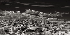 City Of Destiny (mjardeen) Tags: konica 50mm 17 hexanon tacoma destiny skyline bright sky clouds detail texture buildings bridge union station car museum lemay port roads streets boat bw black white blackandwhite ir infrared 720nm converted lifepixel washington wa sony a7ii a7m2 konica50mm17hexanon