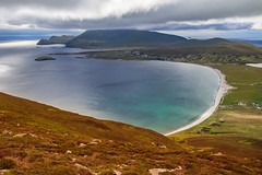 Achill Island (Michel Hincker) Tags: green 80d canon hill view beach clouds blue sea water sky