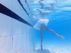 Arabesque. (AntonioArcos aka fotonstudio) Tags: seleccionar ballet dancer underwater ballerina rehearsing arabesque legs beauty blue swimmingpool tutu pointeshoes