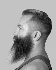profilo (mjwpix) Tags: profilo profile autoritratto selfportrait mjwpix michaeljohnwhite canoneos5dmarkiii ef85mmf18usm monochrome beard shortbackandsides