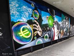 Money hunter (ericbaygon) Tags: tag graffiti paint peinture fresque bruxelles brussel belgique money euros canon powershot s100 street rue town ville art