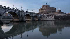 Castel Sant' Angelo (albi_tai) Tags: 2016 roma pontesantangelo tevere ponte acqua water sera tramonto castelsantangelo luci riflesso light panorama landscape albitai nikon nikond750 d750