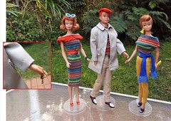 RALLY DAY (ModBarbieLover) Tags: barbie midge allan 1964 knit rally separates pak fashions vintage doll