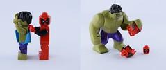 Pulling the Hulk underwear (Alex THELEGOFAN) Tags: deadpool lego legography hulk joke movie minifigure minifig minifigures minifigs minifigurines avengers super heroes marvel story