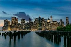 NYC Skyline (FCostanza) Tags: manhattan oneworldtrade bluehour nyc piers skyscrapers sunset brooklyn longexposure