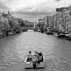 Alkmaar in BW (isobrown) Tags: alkmaar boat canal water river netherlands noir et blanc