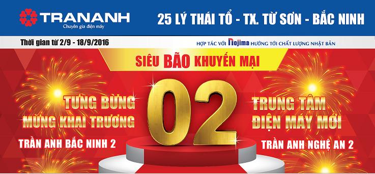 Ưu đãi lớn mừng Trần Anh đồng loạt khai trương 2 siêu thị