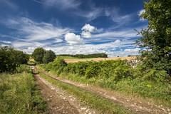 Summer skies (Keartona) Tags: whitepeak countryside peakdistrict derbyshire england english farmtrack footpath path rural beautiful summer august day scenic scenery british sky cirrus clouds