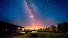 Millions of Stars (marco soraperra) Tags: explored stardust landscape farm sky stars night field trees milkyway blue red yellow light shadow mountains
