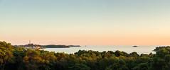 Rovinj (genf) Tags: rovinj istria istri croatie hrvatska kroati sea zee sunset zonsondergang mood trees bomen holiday vakantie village dorp church kerk kerktoren sony a77 panorama