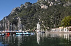 The yachts (Vee living life to the full) Tags: lakegarda leger touring holidays nikond300 lake landscape power station boating ferry ship passenger drop mountain reflections