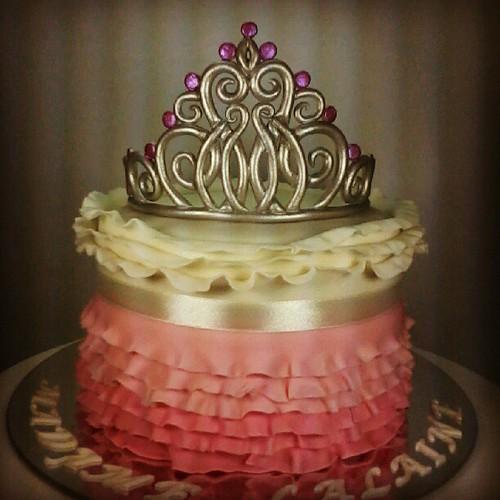 Beauty Queen Cake Crowncake Tiara Fondantcake Fondant Crown