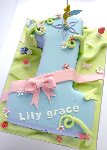 Astounding Tinkerbell Birthday Cake A Photo On Flickriver Personalised Birthday Cards Cominlily Jamesorg