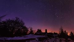 Abend am Meringstein (tankredschmitt) Tags: snow night clear orion landschaft nachtaufnahme sterne detmold astronomie lichteffekte velmerstot abigfave sternbilder pwwinter