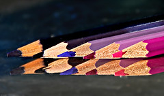 (Di's Eyes) Tags: pencils reflections purple five week7 reptition