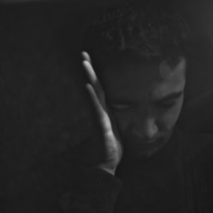 hide from (Vasilis Amir) Tags: portrait blackandwhite selfportrait monochrome self square moving hand lightgame  vasilisamir
