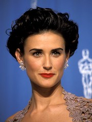 Demi Moore (ffreewheel4) Tags: california red smiling hair losangeles unitedstates diamond short earrings lipstick brunette wavy