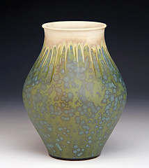 Vase - Bruce Gholson (Bulldog Pottery - Bruce Gholson and Samantha Henne) Tags: flower ceramics northcarolina vase pottery porcelain potters seagrove crystallineglaze seagrovepottery bulldogpottery northcarolinapottery seagrovenc brucegholson