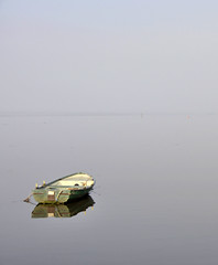 Still Waters (magaroonie) Tags: rivertay fife newburgh rowingboat 7daysofshooting minimalsunday week33transport