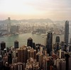Sunset from Victoria Pick (cdolls) Tags: hk color film rollei rolleiflex square hongkong squareformat couleur 120mm hongkongbay flickraward