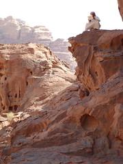 Our Bedouin guide and his ipad (marc's pics&photos) Tags: apple sand desert middleeast jordan rum wadi bedouin ipad arabiccountries