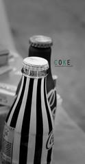 Coke (Luck and intuition 9) Tags: blackandwhite bw macro canon vintage coke retro cocacola eos600d