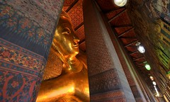 Nirvana ~ Bangkok Wat Pho~ (PS~~) Tags: trip travel vacation holiday building art history tourism architecture thailand temple photography gold golden asia tour place searchthebest earth spires bangkok buddha buddhist religion sightseeing buddhism grand palace tourist journey po planet sight reclining traveling southeast ornate wat visiting pho statuary exploration hindu siam remains touring deity bkk hindi illuminate thep  travelphotography  plated rattanakosin krung  beautifulstatue  kingdomofthailand  totallythailand thebeststatue
