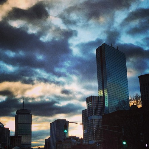 City sunset #boston